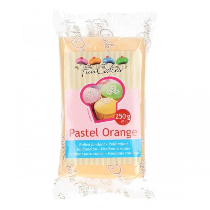 Fondant naranja pastel 250 g - Funcakes