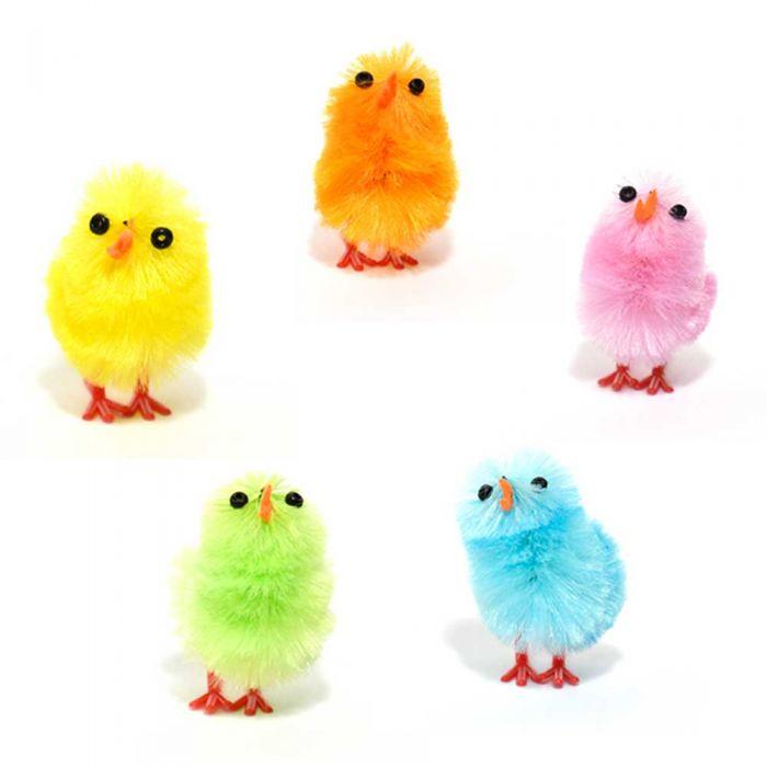 Pollitos de Pascua pequeños de colores (unidad)