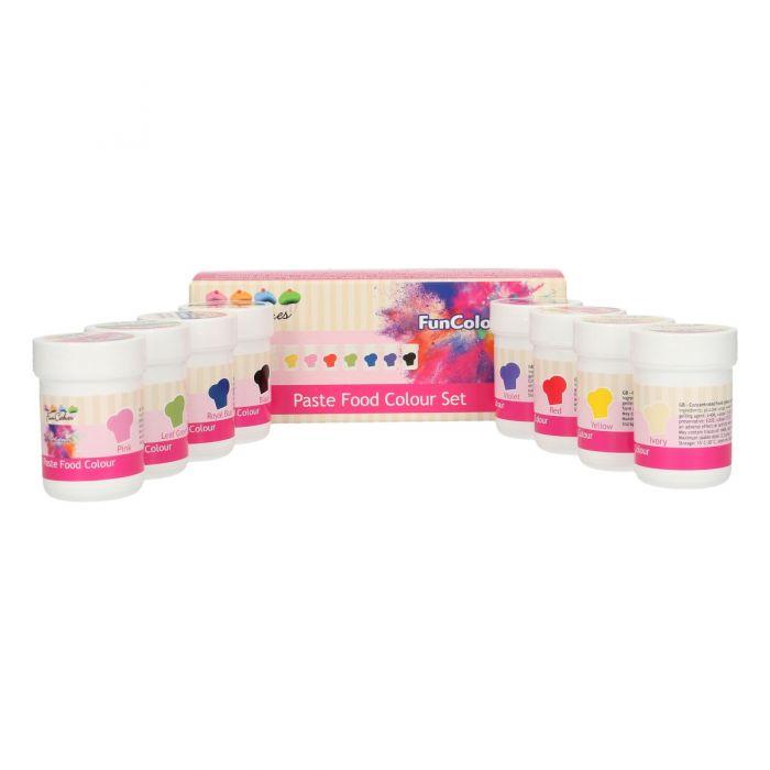 Set de 8 Colorantes en Pasta Fun Colours - FunCakes