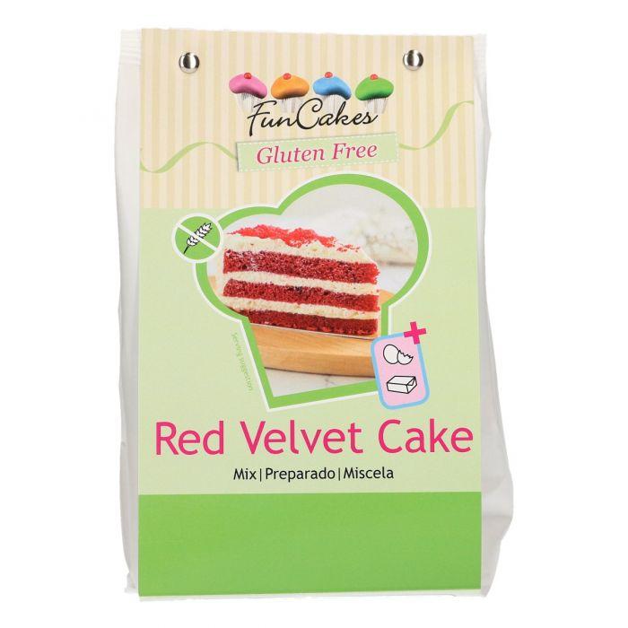 Preparado Red Velvet Sin Gluten 400g - FunCakes