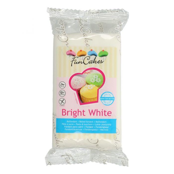 Fondant Bright White 250 g. - FunCakes