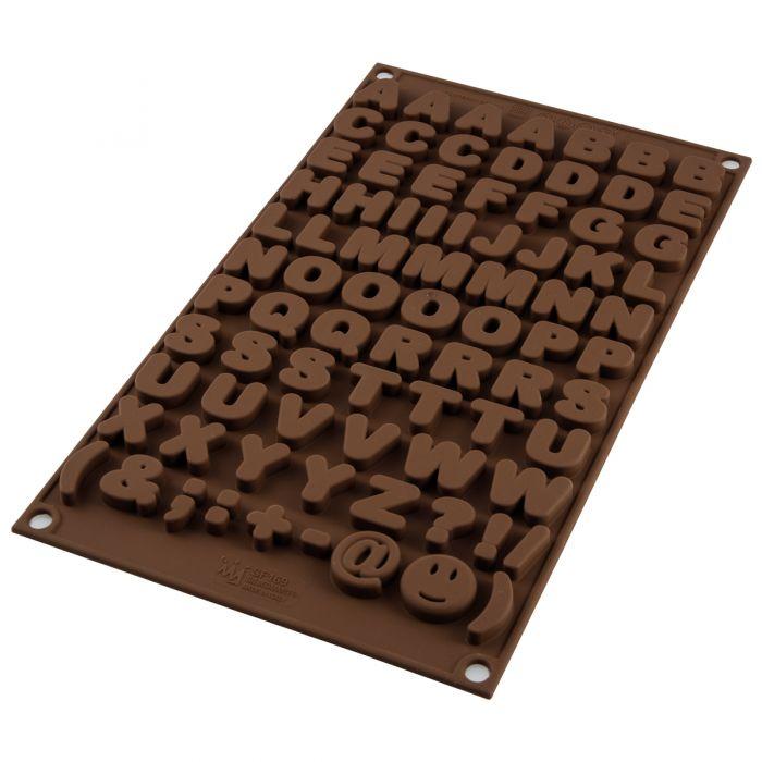 Molde Chocolate Choco ABC - Silikomart