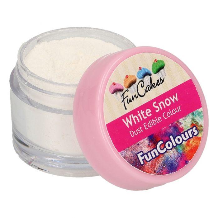 Colorante en polvo color blanco nieve - Funcakes