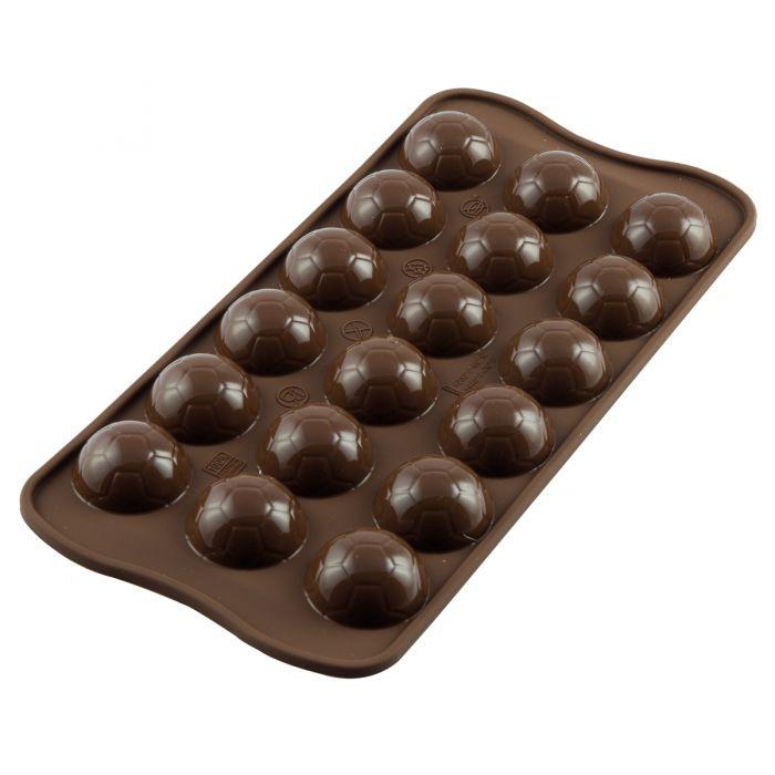 Molde para chocolate balón fútbol - Silikomart