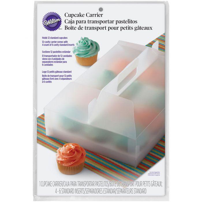 Transportador de plástico para 12 cupcakes Wilton