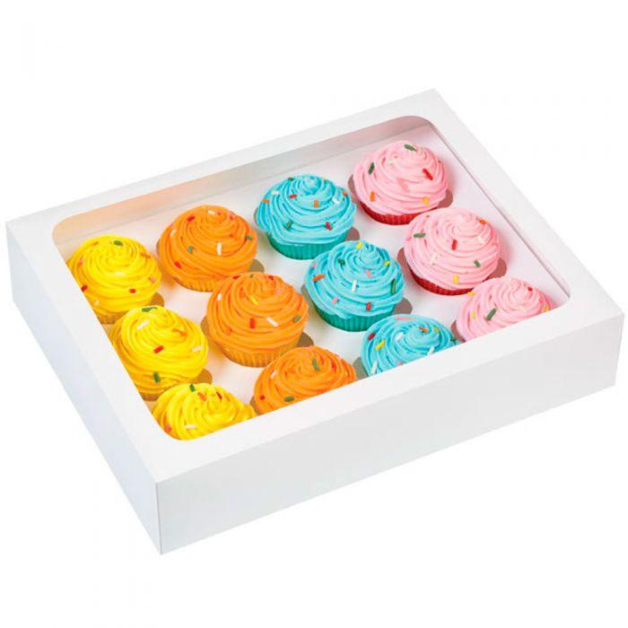 Caja Mini Cupcakes Blanco, 3u. - Wilton