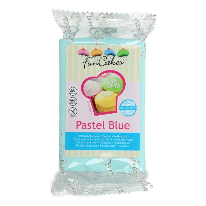 Fondant azúl pastel 250 g - Funcakes