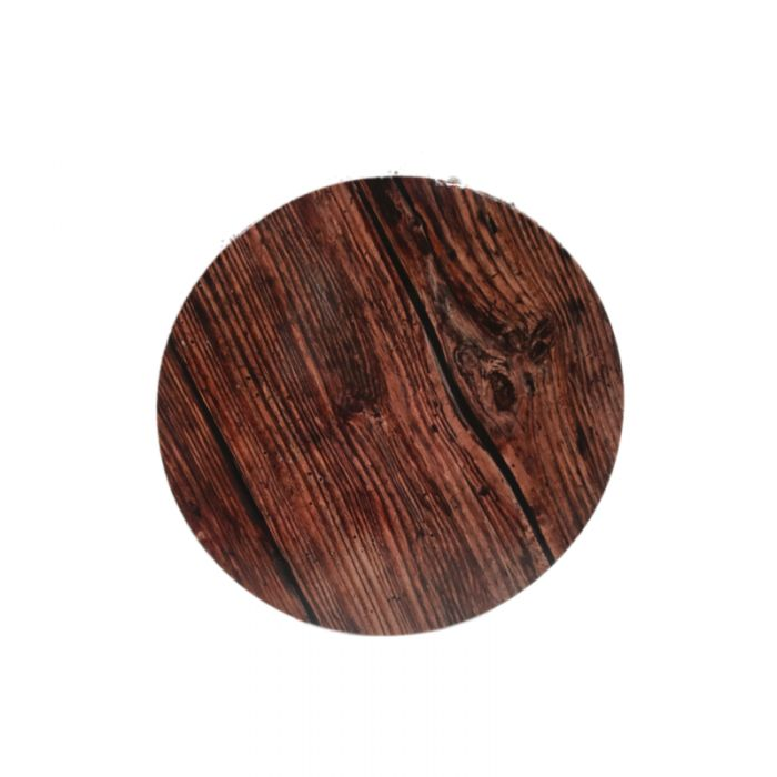 Base redonda efecto madera 25 cms., grosor 3 mm