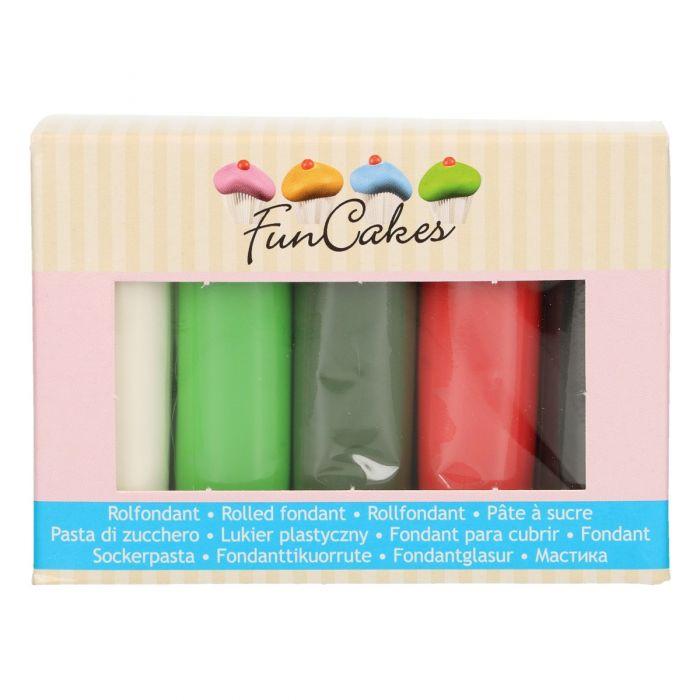 Fondant multipack con colores de Navidad - FunCakes