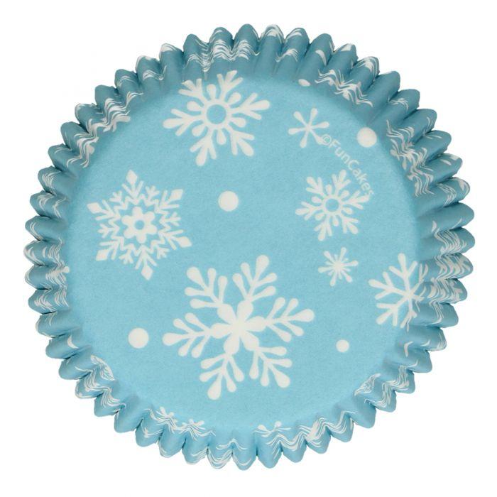 Capsulas con copos de nieve (frozen) 48 u. - Funcakes