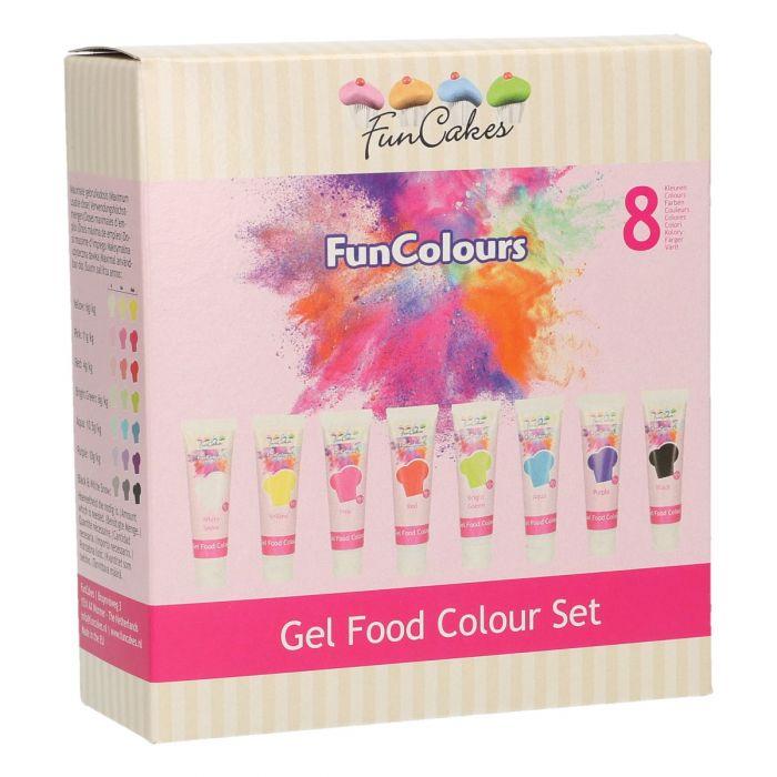 Multipack de 8 Colorantes en Gel - FunCakes