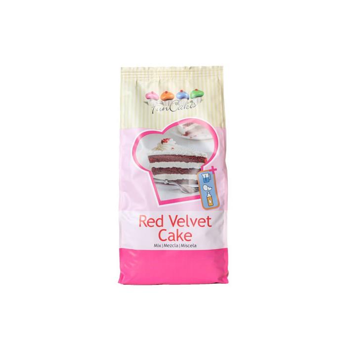 Preparado de bizcocho Red Velvet 1Kg. - Funcakes