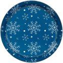 Pack de 2 Moldes redondos decorados con Copos de Nieve - Wilton