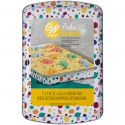 Molde rectangular decorado multicolor 22 x 32 cms. - Wilton