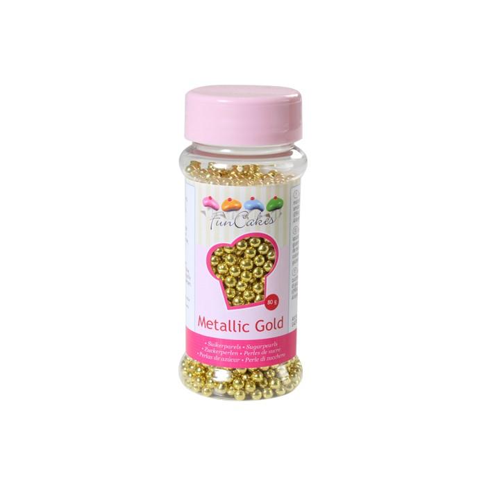 Perlas doradas 4 mm - Funcakes