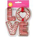 Set 4 cortadores galletas LOVE