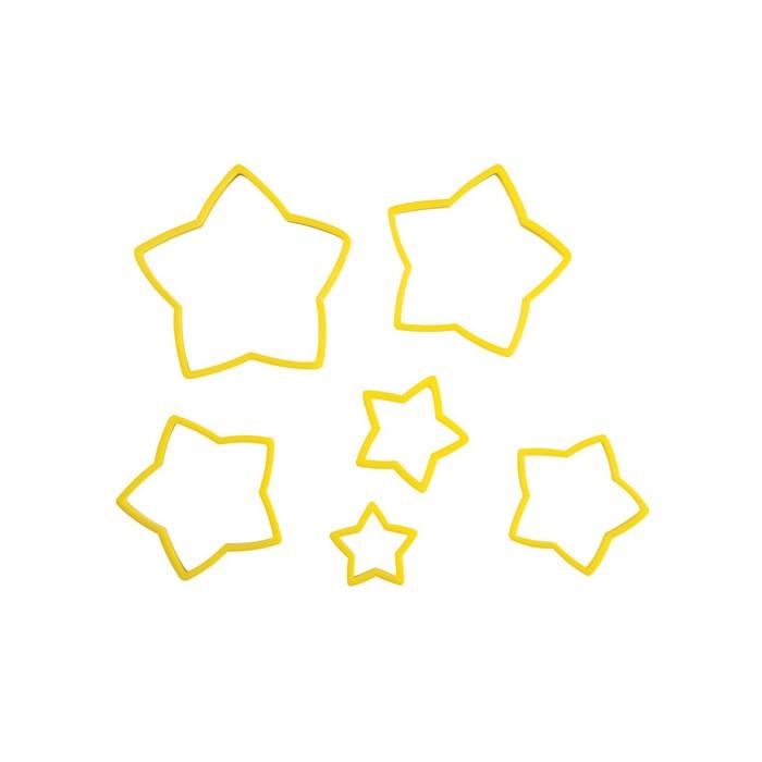 Set 6 cortadores estrella