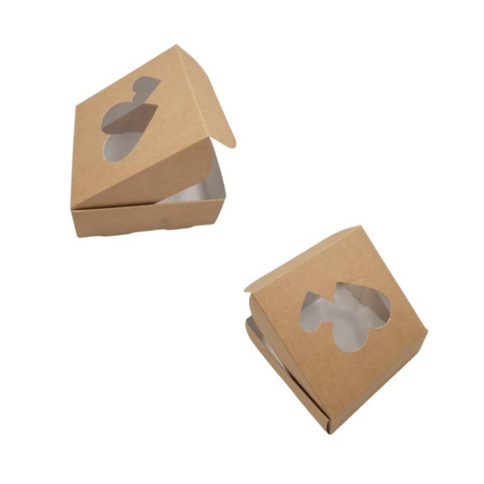 Caja corazones para una galleta