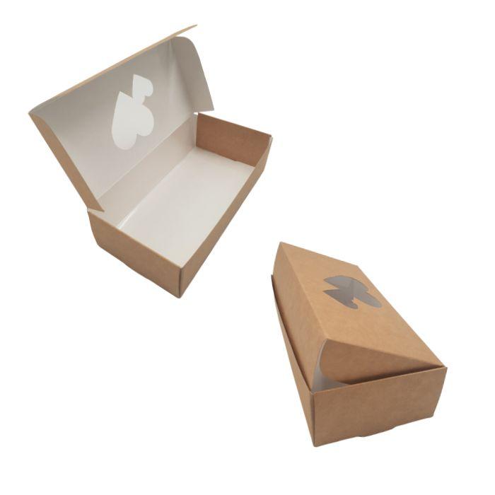 Caja corazones para dos galletas