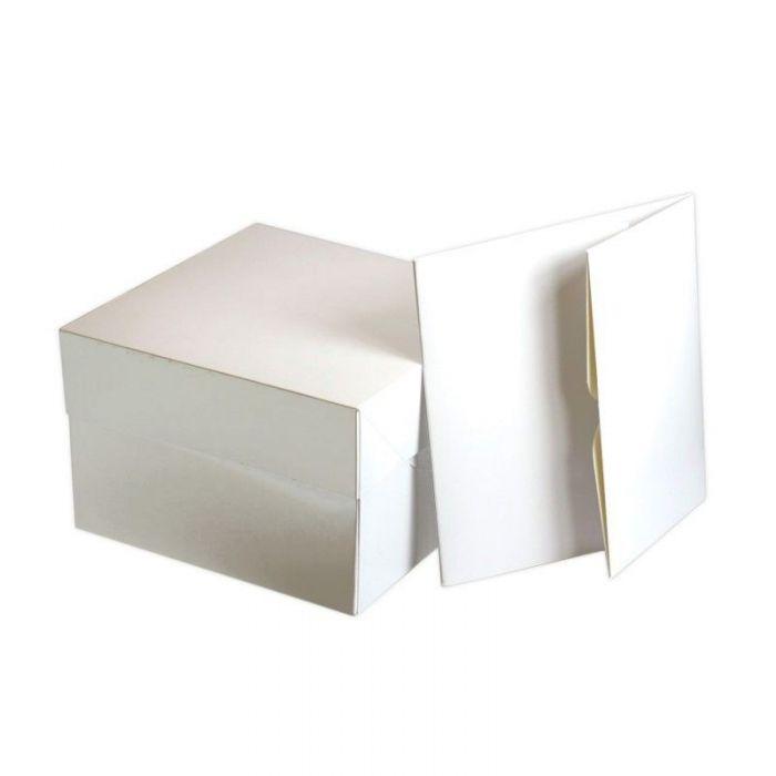 Caja rectangular blanca 45x35 cm