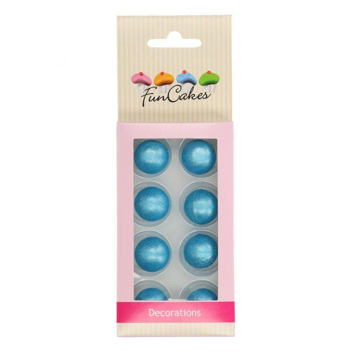 Bolas de chocolate en azul perlado Funcakes
