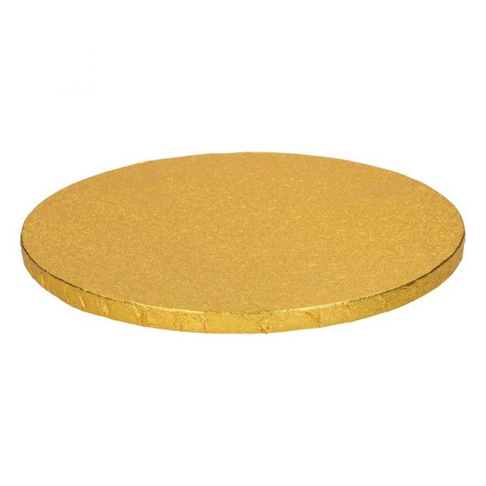 Cake Drum / Base redonda 25 cm 12 mm grosor Dorada - Funcakes