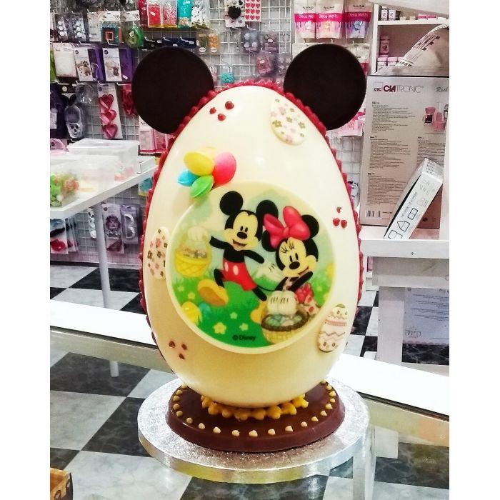 Huevo de chocolate decorado Mickey / Minnie