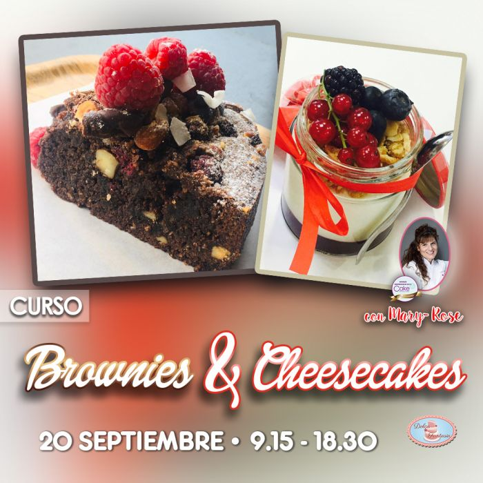 Curso Brownies y Cheesecakes con Mary - Rose Sánchez