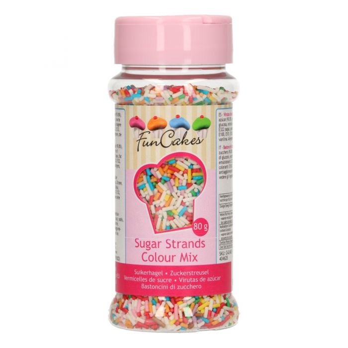Fideos de azúcar Mix de Color Funcakes 80 g.