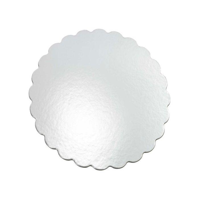 Set 8 bases plateadas flor Wilton 30 cm