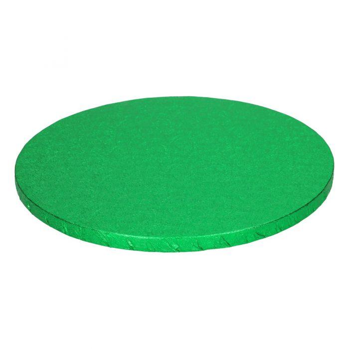 Cake Drum / Base redonda 25 cm, grosor 12 mm Verde - Funcakes