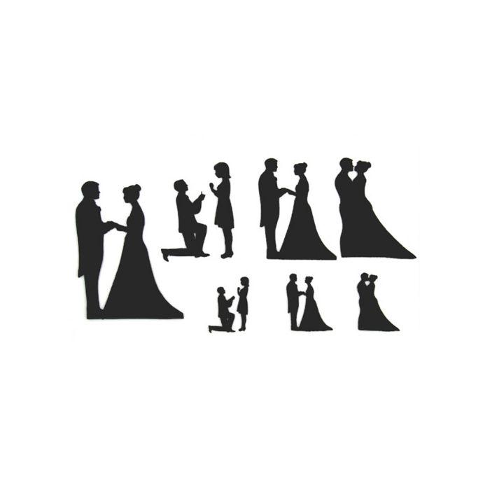 Set Cortadores Patchwork Siluetas de boda