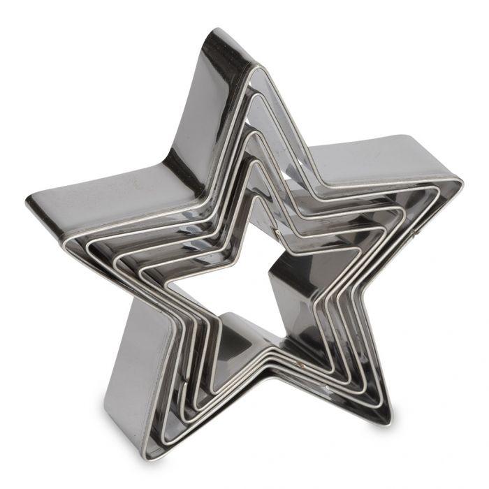 Set 5 cortadores estrella Patisse