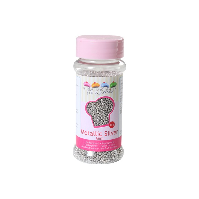Perlas plateadas 2 mm - Funcakes