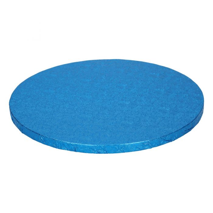 Cake Drum / Base redonda 25 cm, grosor 12 mm azul electrico - Funcakes