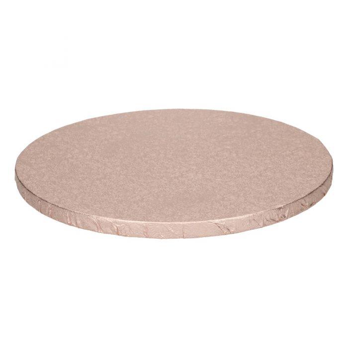 Cake Drum / Base redonda 25 cm, grosor 12 mm rosa dorado - Funcakes