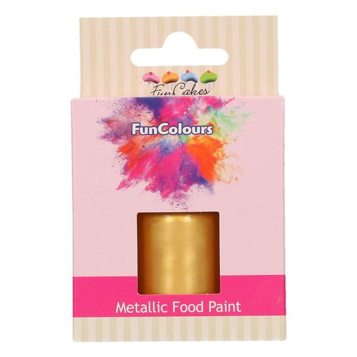 Pintura metalizada Oro Funcakes