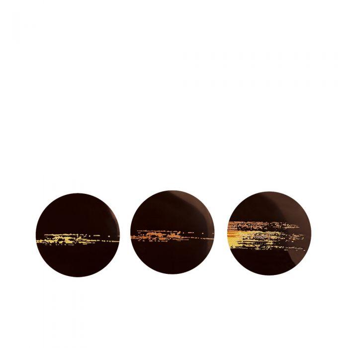 Set 3 círculos de chocolate Scintillante