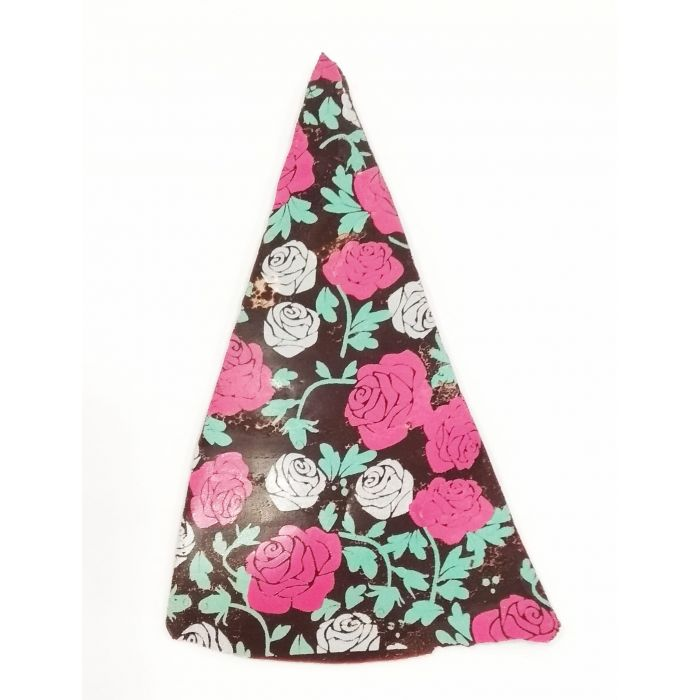 Triángulo chocolate negro y flores Dolça Fantasia