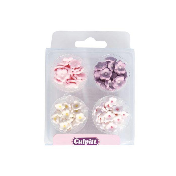 Set 100 mini flores de azúcar Culpitt
