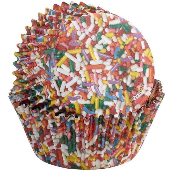 Capsulas para hornear cupcakes fideos colores