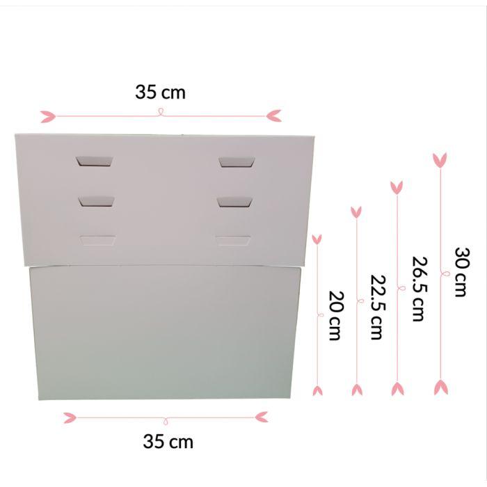 Caja para tartas ajustable 4 alturas 35 cm