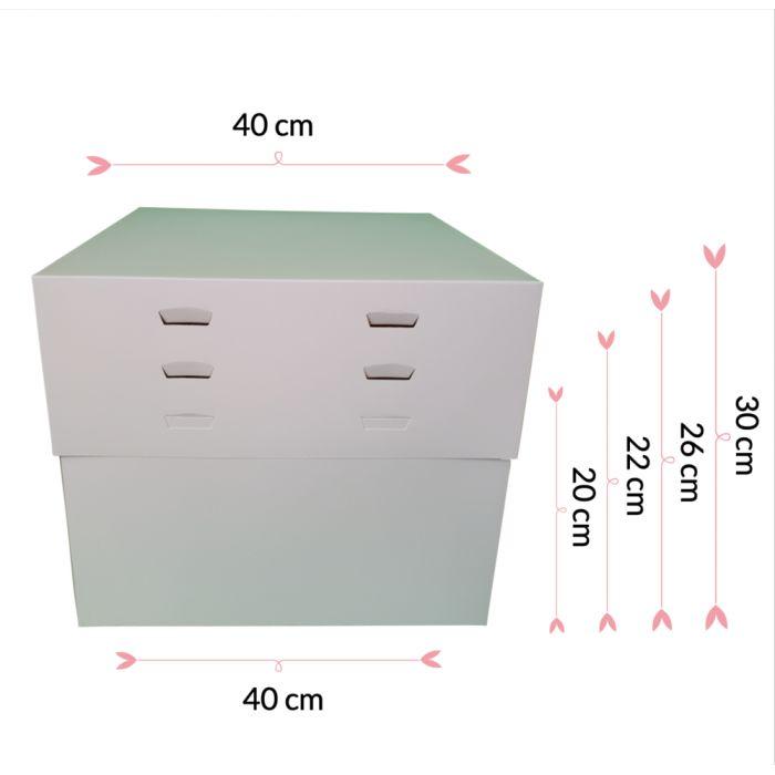 Caja para tartas ajustable 4 alturas 40 cm