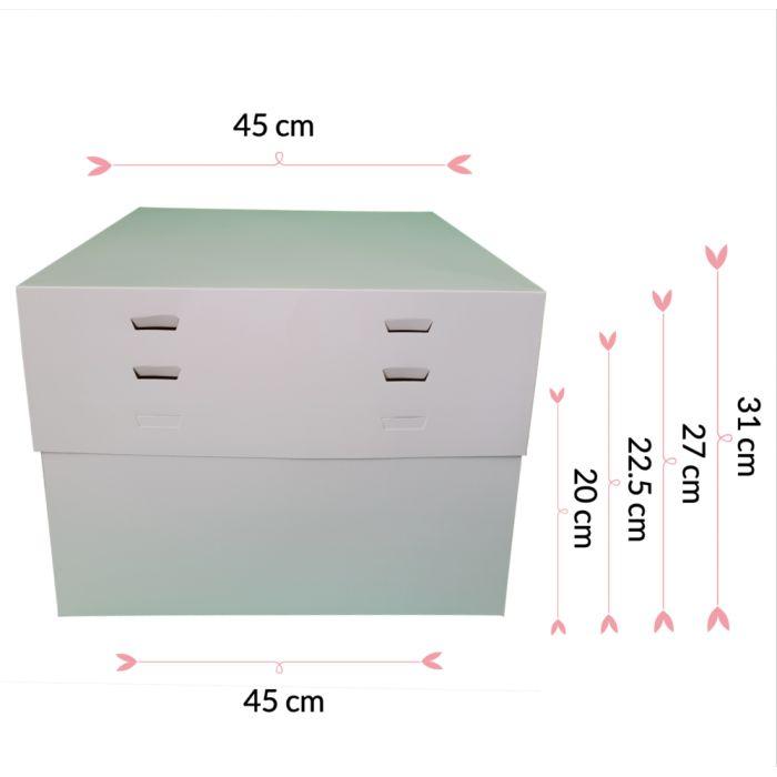 Caja para tartas ajustable 4 alturas 45 cm
