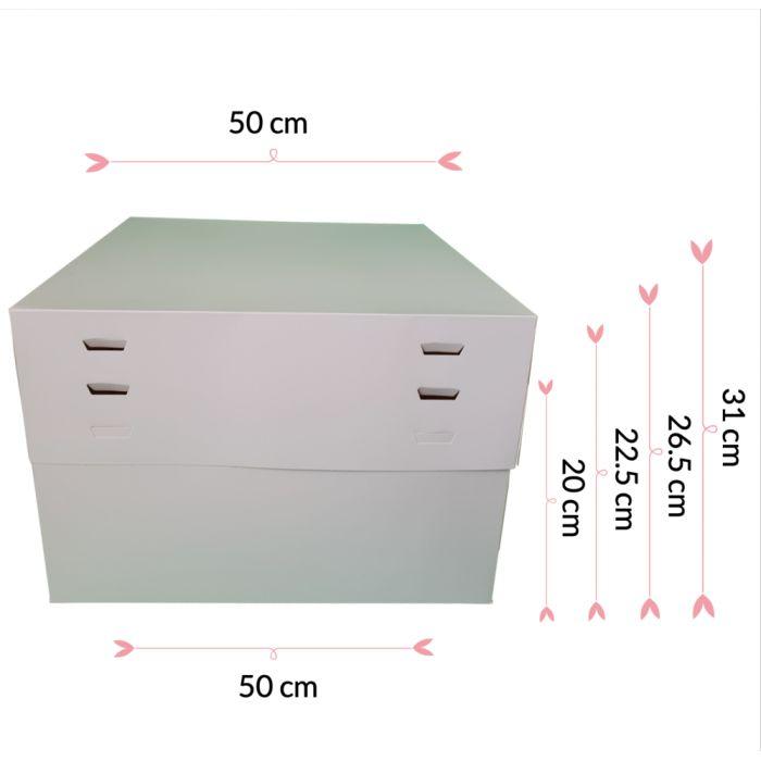 Caja para tartas ajustable 4 alturas 50 cm