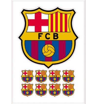 Papel azúcar precortado - Escudos del F.C.Barcelona