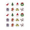 Papel de azúcar con motivos navideños recortados circulo 4,5 cms.