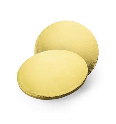 Base redonda/Cake Drum dorado 30 cm.