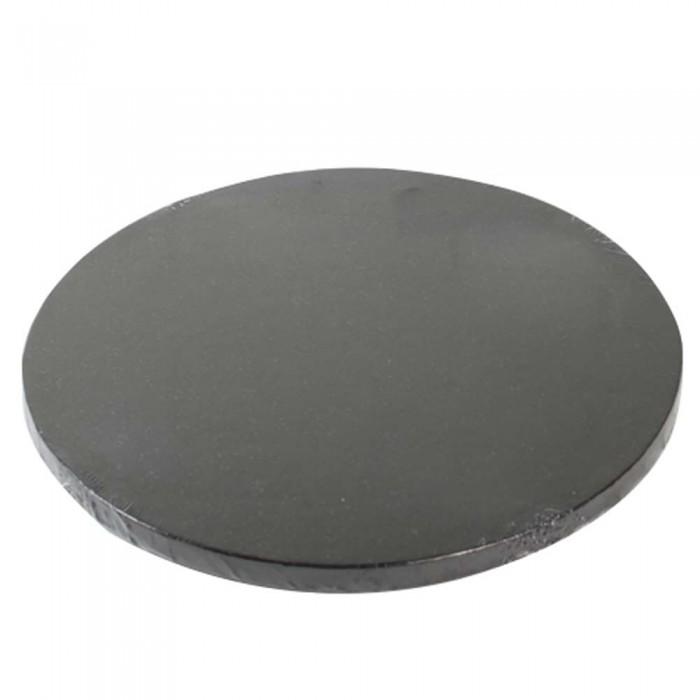 Cake Drum / Base redonda 25 cm 12 mm negra - Funcakes