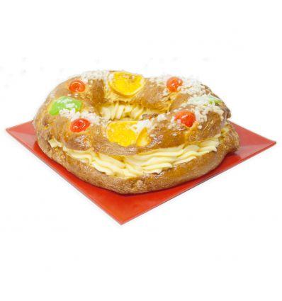 Roscón de reyes de crema grande sin gluten 950 grs. - Forn Ricardera